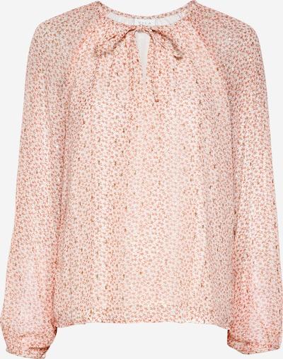 VILA Blouse 'FALIA' in de kleur Zalm roze / Wit, Productweergave
