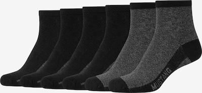 MUSTANG Kurzsocken 'Abigail' im 6er-Pack in dunkelgrau / schwarz, Produktansicht