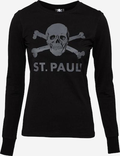 FC St. Pauli Тениска 'Totenkopf' в сиво / черно, Преглед на продукта