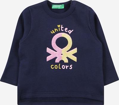 Bluză de molton UNITED COLORS OF BENETTON pe albastru noapte / portocaliu deschis / roz, Vizualizare produs
