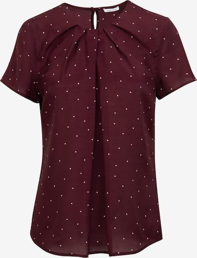 SEIDENSTICKER Bluse in burgunder / weiß, Produktansicht