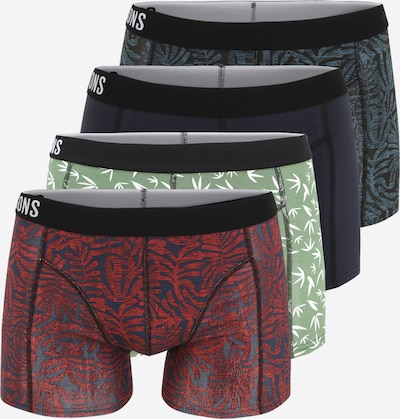 Only & Sons Boxer shorts 'JEPPE' in marine / dusty blue / pastel green / wine red / black / white, Item view