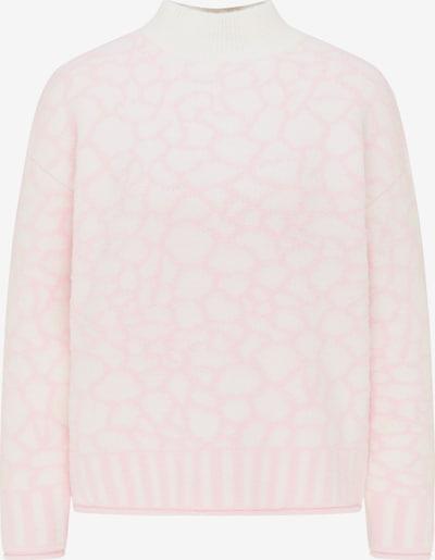 MYMO Pull-over oversize en rose / blanc, Vue avec produit