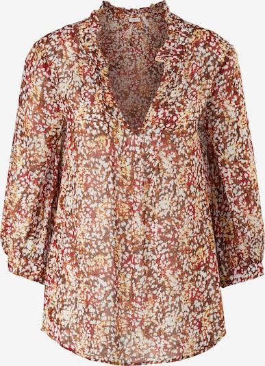 s.Oliver BLACK LABEL Bluse in ocker / dunkelbraun / hellorange / rostrot / weiß, Produktansicht