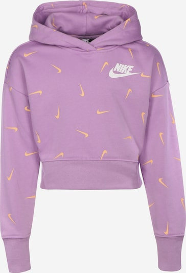 Nike Sportswear Sportsweatshirt 'G Nsw Crop' in gelb / lila / weiß, Produktansicht