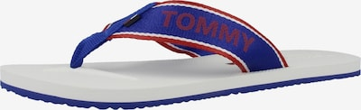 TOMMY HILFIGER Zehensandale in blau / weiß, Produktansicht