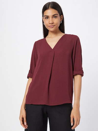 JDY Blouse 'Divya' in Wine red, View model
