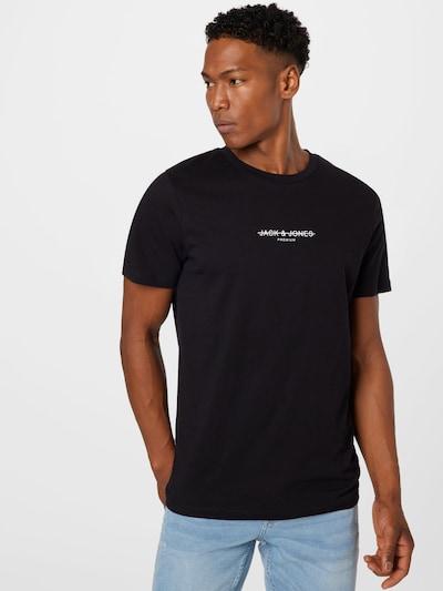 JACK & JONES Тениска в черно / бяло: Изглед отпред