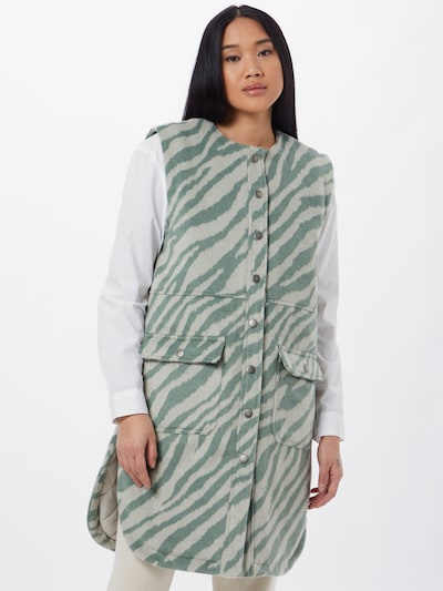 Moves Weste 'Nicmasi' in jade / pastellgrün, Modelansicht