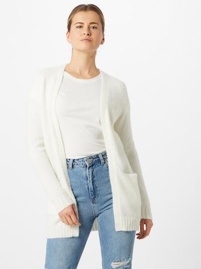 VILA Cardigan en blanc, Vue avec modèle
