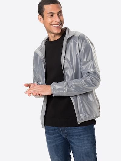 Superdry Sportjas in de kleur Zilvergrijs: Vooraanzicht