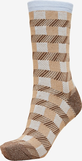 SELECTED FEMME Ponožky 'Vida' - svetlomodrá / svetlohnedá / hnedá melírovaná, Produkt