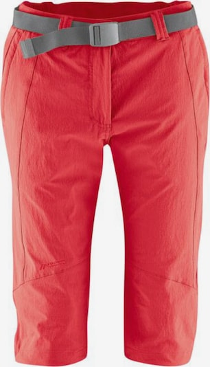 Maier Sports Outdoorhose ' Kluane Capri ' in rot, Produktansicht