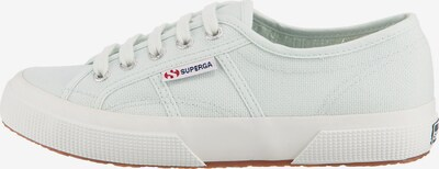 SUPERGA Sneaker in dunkelgrau / hellgrün / rot / weiß, Produktansicht