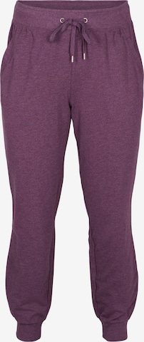 Active by Zizzi Workout Pants 'CADALIA' in Purple