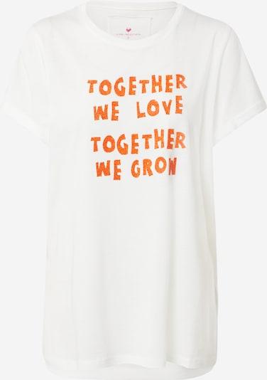 LIEBLINGSSTÜCK Shirt 'Druana' in orange / offwhite, Produktansicht