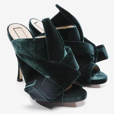 N°21 Sandaletten in 37 in dunkelgrün, Produktansicht