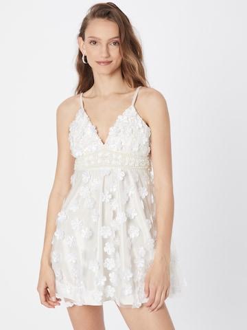 A STAR IS BORN Kokteilové šaty - biela