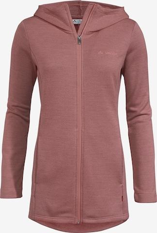 VAUDE Athletic Cardigan 'Soesto II' in Pink