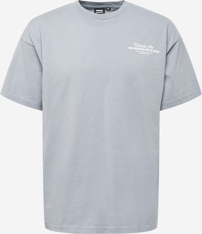 Dr. Denim T-Shirt in rauchgrau / weiß, Produktansicht