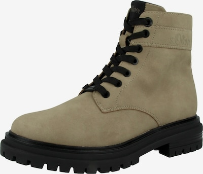 s.Oliver Boots in taupe / schwarz, Produktansicht
