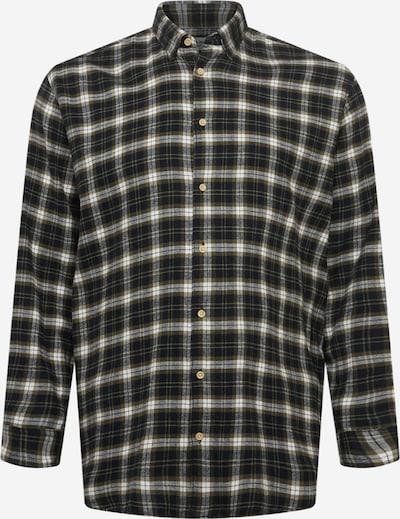 Jack & Jones Plus Hemd 'LAIN' in khaki / dunkelgrün / weiß, Produktansicht