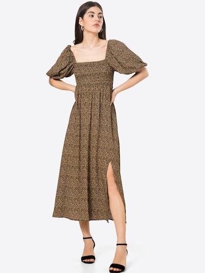 Gestuz Kleid 'Lif' in braun / orange / weiß, Modelansicht