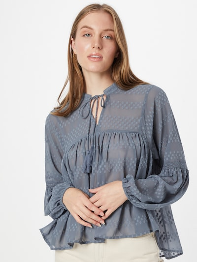 ONLY Blouse 'New  Elisa' in Dusty blue, View model