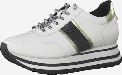 TAMARIS Sneaker in gold / schwarz / weiß, Produktansicht