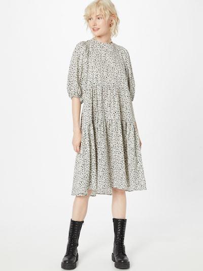 SECOND FEMALE Kleid in anthrazit / pastellrot / weiß, Modelansicht