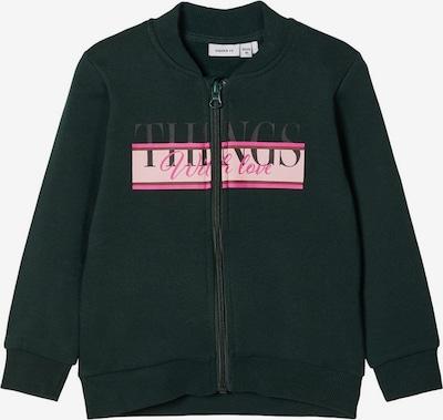 NAME IT Sweatshirt in tanne / pink / rosa, Produktansicht