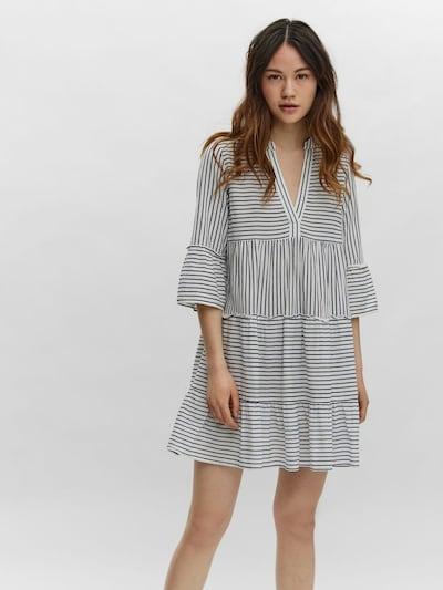 VERO MODA Kleid 'HELI' in dunkelblau / weiß, Modelansicht