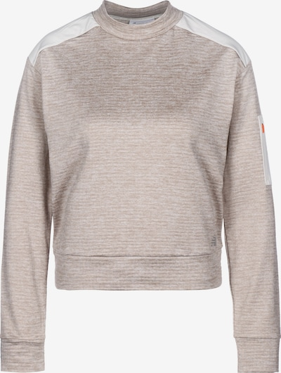 new balance Sportief sweatshirt 'Heat Grid' in de kleur Beige / Wit, Productweergave