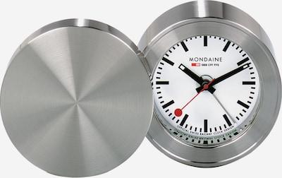 Mondaine Wecker in rot / schwarz / silber / weiß, Produktansicht