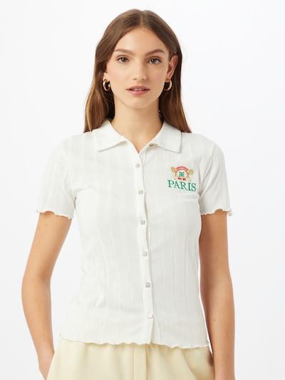 River Island Shirt 'Paris' in gold / grün / rot / weiß, Modelansicht