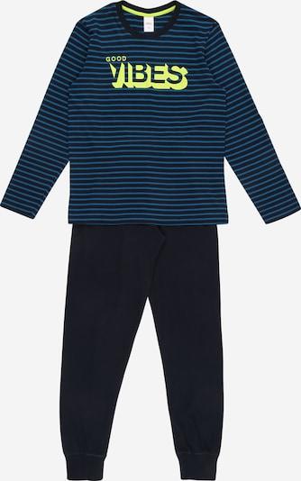 s.Oliver Junior Nachtkledij in de kleur Blauw / Navy / Neongroen, Productweergave