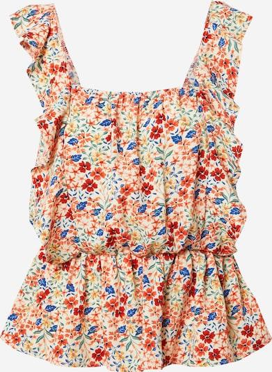 In The Style Top 'JAC JOSSA' in de kleur Blauw / Groen / Sinaasappel / Rood / Wit, Productweergave