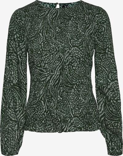 VERO MODA Bluse 'Vilba' in de kleur Mintgroen / Donkergroen, Productweergave