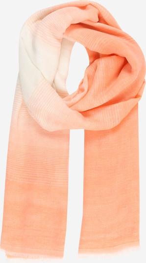 PIECES Sjaal 'PCTERRA LONG SCARF KAC BC' in de kleur Mandarijn / Wit, Productweergave