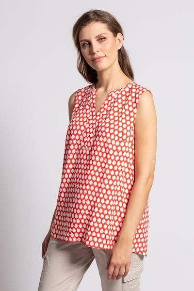 Gina Laura Blusentop in beige / rot, Modelansicht