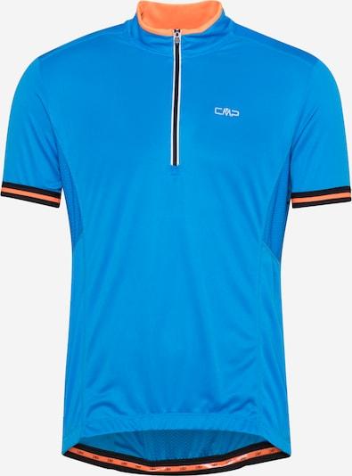 Tricou funcțional CMP pe albastru regal / portocaliu / negru / alb, Vizualizare produs