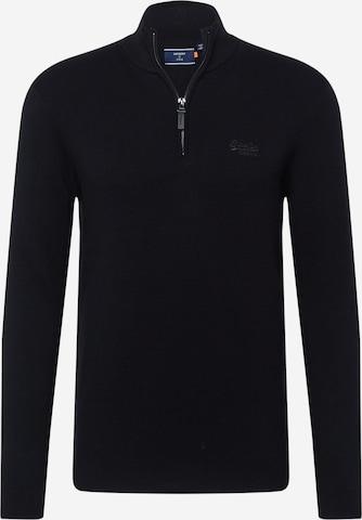 Superdry Sweter w kolorze czarny