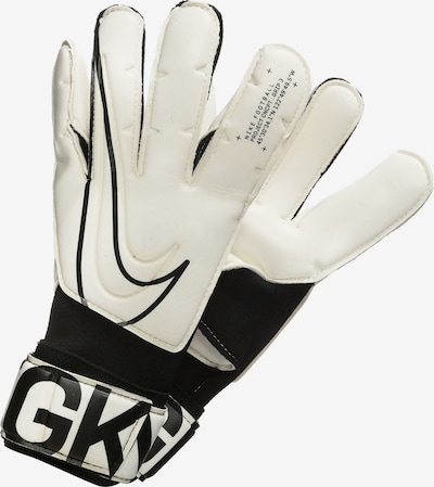 NIKE Gants de sport 'Grip3 Goalkeeper' en noir / blanc, Vue avec produit