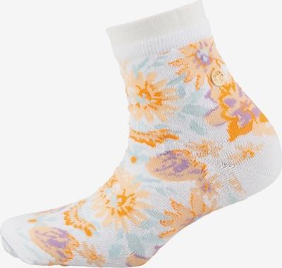 BIRKENSTOCK Socken in azur / helllila / hellorange / weiß, Produktansicht