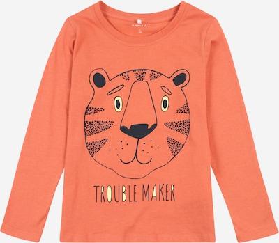 NAME IT Koszulka 'DIRGO' w kolorze ciemny niebieski / pomarańczowy / białym, Podgląd produktu