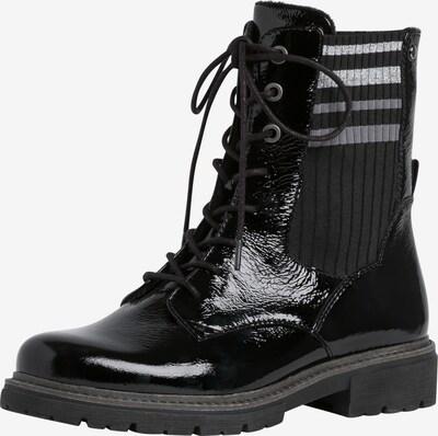 JANA Bottines à lacets en noir / argent, Vue avec produit