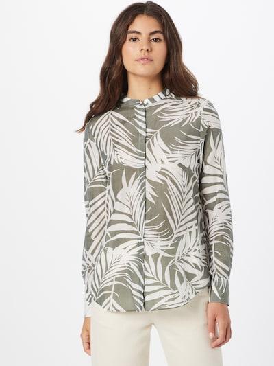 BOSS Casual Блуза в Каки / бяло, Преглед на модела
