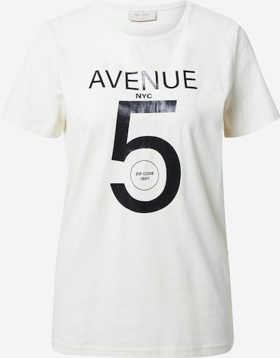 Freequent T-Krekls 'ANJA' krēmkrāsas / melns, Preces skats