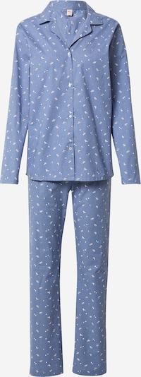 BeckSöndergaard Pižama | dimno modra / bela barva, Prikaz izdelka
