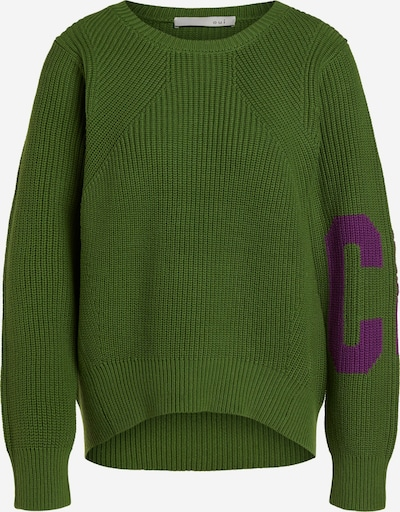 OUI Pullover in dunkelgrün / dunkellila, Produktansicht